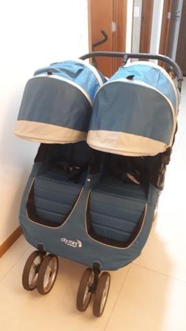Carrinho de Bebê para Gêmeos City Mini Baby Jogger Double