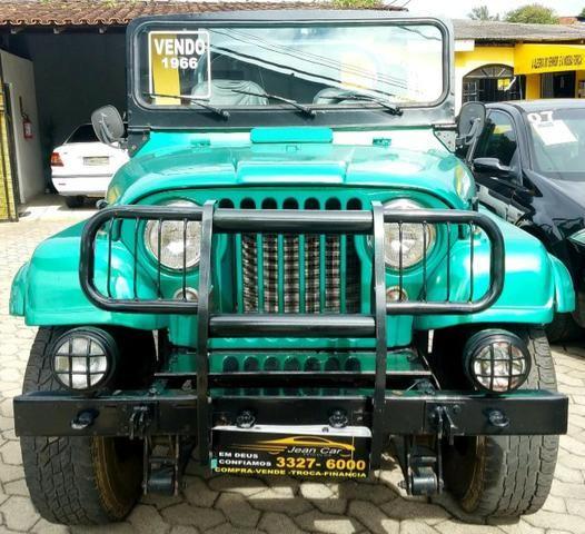 Jeep Willys 4x4 gasolina 1966/66. Muito novo. Raridade! Confira!