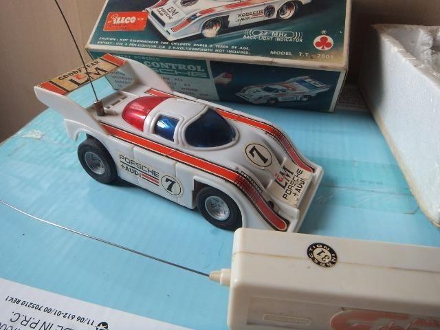 R$ 70 Porsche de controle remoto antigo, acompanha caixa! - Foto 5