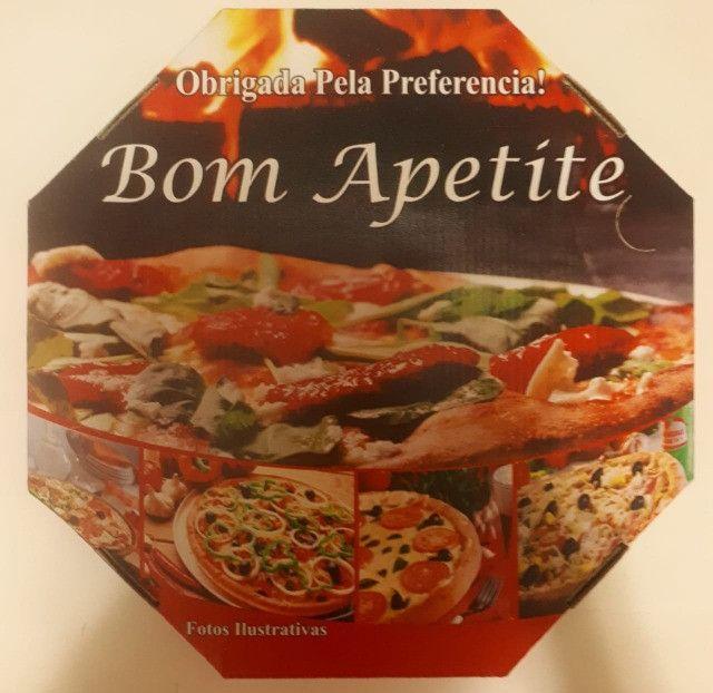 50 Caixas Embalagem Pizza Broto 25cmOitavada Fotográfica Reforçada Padrão ou Personalizada - Foto 2