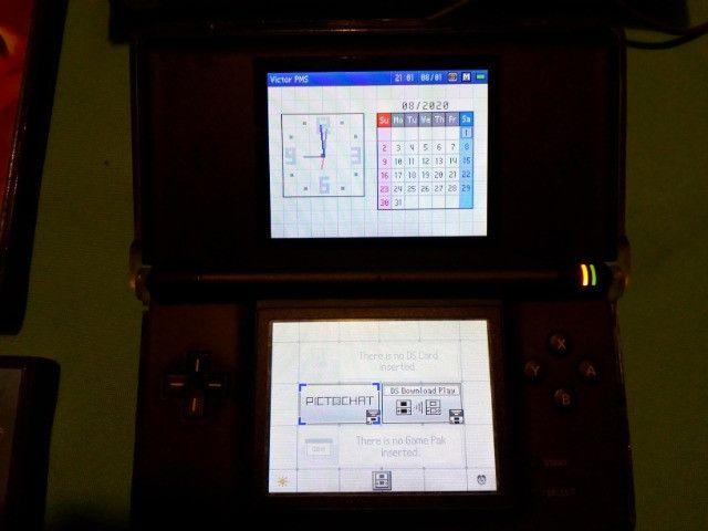 Nintendo DS Lite Azul + 3 Jogos + Fonte - Foto 2
