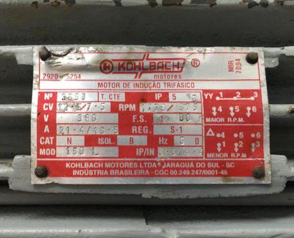 Motor elétrico de duas velocidades 12,5cv/7,5cv - Foto 3