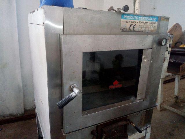 Vendo ou troco forno turbo a lenha de padaria - Foto 4