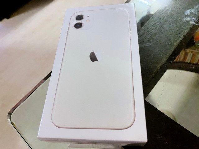 IPhone 11 Branco 128gb, NF + Garantia 1 ano, A2221, Anatel, Lacrado, Zero, Novo - Foto 2