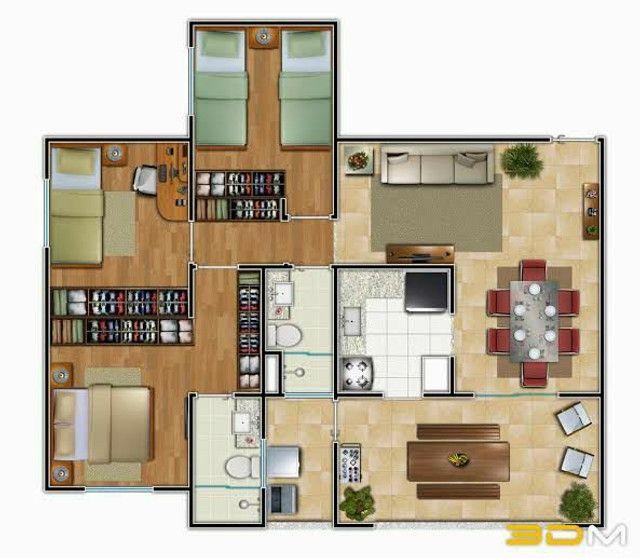 Planta/Desenho de Arquitetura Casa - Foto 2