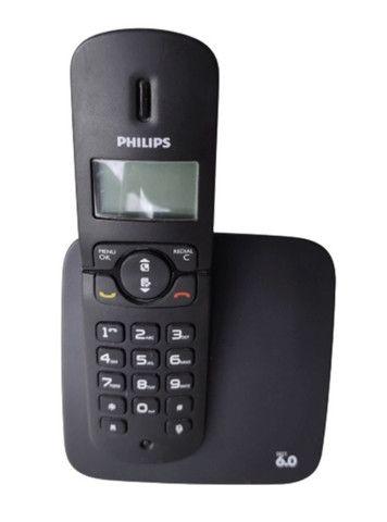 Telefone Sem Fio Philips Cd180 Dect 6.0 Preto Seminovo Com Manual