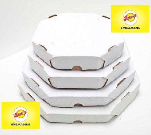 50 Caixas Embalagem Pizza 35cm Oitavada Branca Tbm personalizamos, temos todos os tamanhos - Foto 4