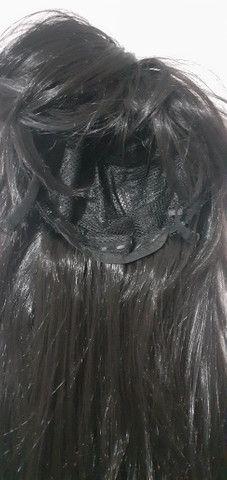 Peruca cabelos longos com franja Nova - Foto 4