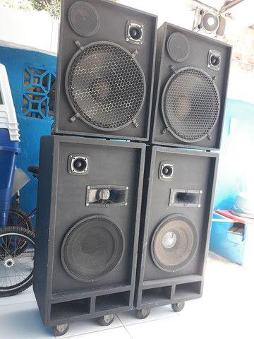 Caixa de som semi profissional - Foto 4