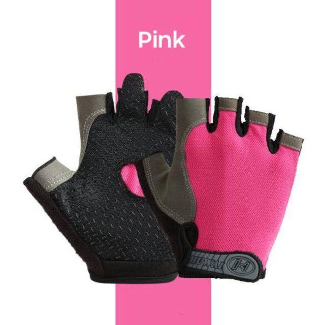Luvas dedo curto cor de rosa - tamanho XL