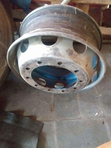 Rodas para caminhões 275/295 a disco e raiadas - Foto 6