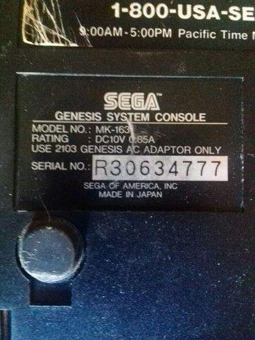 Sega Genesis 2 com cabo rca,controle novo e fonte bivolt - Foto 5