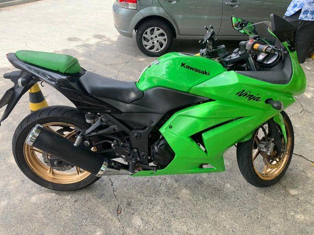 Kawasaki ninja 250 2010 aceito cartão 24 x 1.5% Am aceito moto Fin 48 x