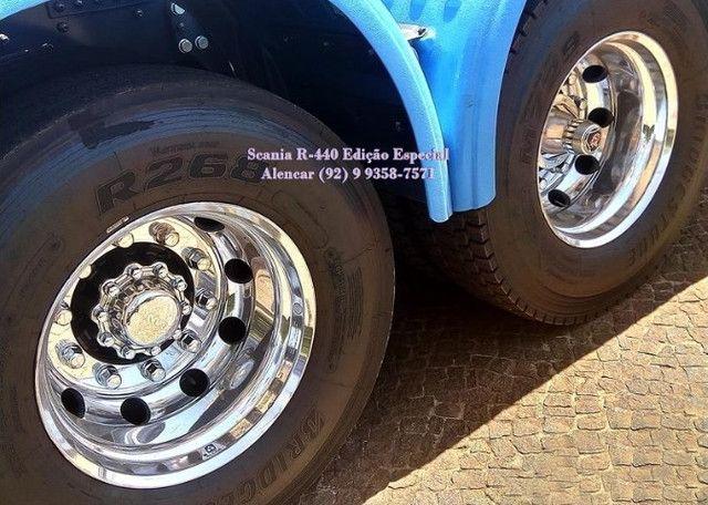 Scania R-440 Streamline Edição 60 anos, rodas em alumínio tanque extra Teto Alto - Foto 6