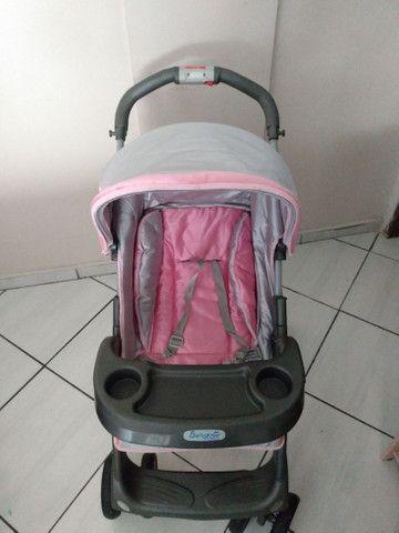 Carrinho de bebê Burigotto+bebê conforto - Foto 2