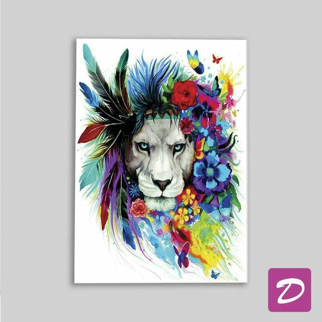 Quadro Leão Color  - Foto 2