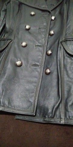 Casaco de couro legítimo P - Foto 4