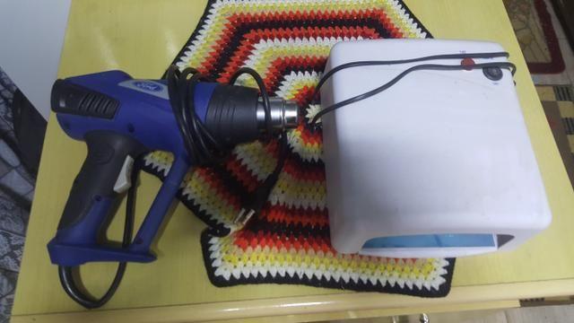 Soprador térmico e urna para secagem de tela celular