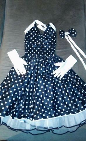 Vestido anos 60 - fantasia