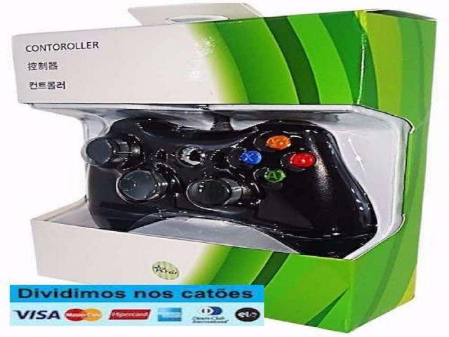 Controle Para Xbox 360 e Pc Com Fio Joystick Original Feir Original- Novo- Entrega Grátis