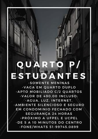 Quarto para Estudantes em Pelotas/RS