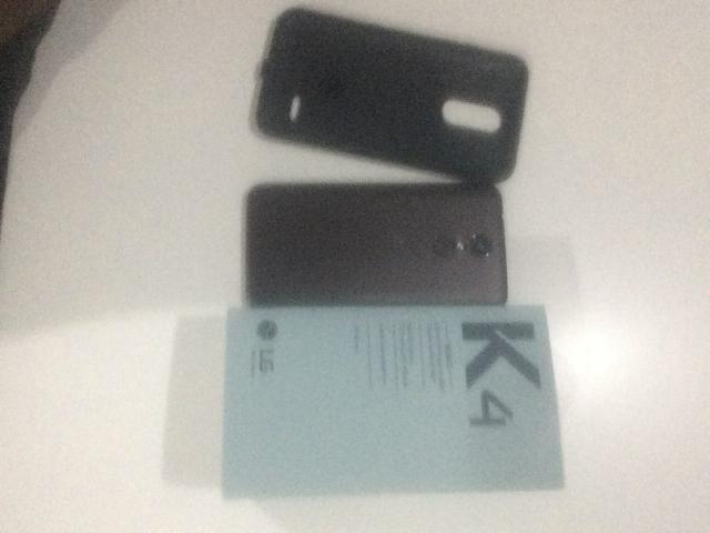 LG K 4 novo na caixa