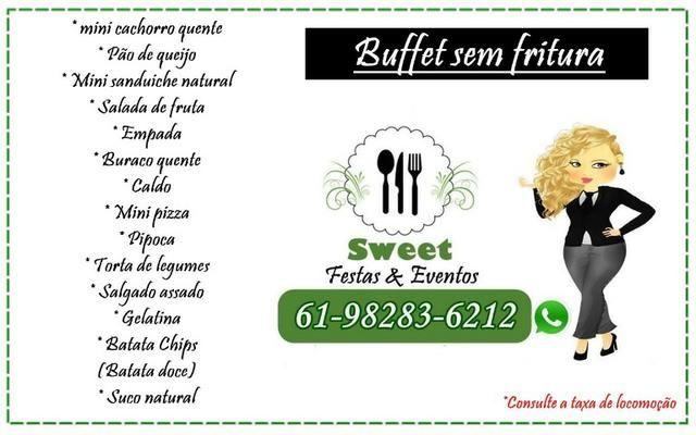 Buffet de festa sem fritura