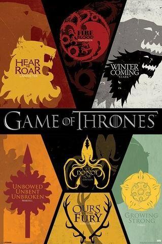 4 poster da serie Game of thrones- entrega em todo Brasil