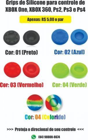 Par de Grips borracha de silicone para controle de' Xbox 'One, 'Xbox '360, 'Ps2, Ps3 e Ps4