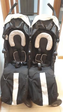 Carrinho de Bebê para Gêmeos Maclaren Twin Techno Black - Foto 2