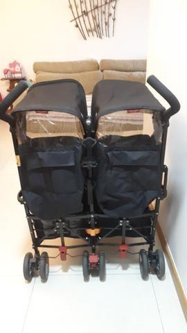 Carrinho de Bebê para Gêmeos Maclaren Twin Techno Black - Foto 4