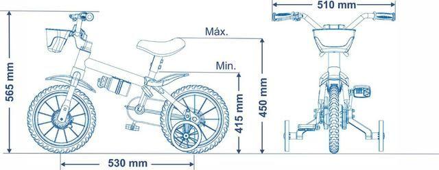 Bicicleta Aro 12 Nathor Feminina c/ Selim de Espuma - Foto 5