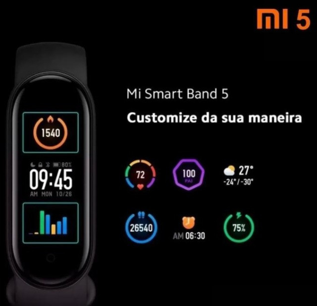 Relógio Smartwatch Pulseira Xiaomi Mi Band 5 - Original a pronta entrega - Foto 3