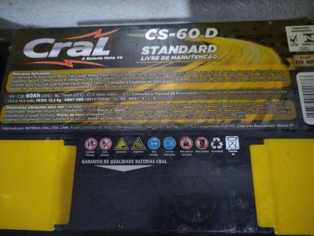 Bateria 60 amps cral