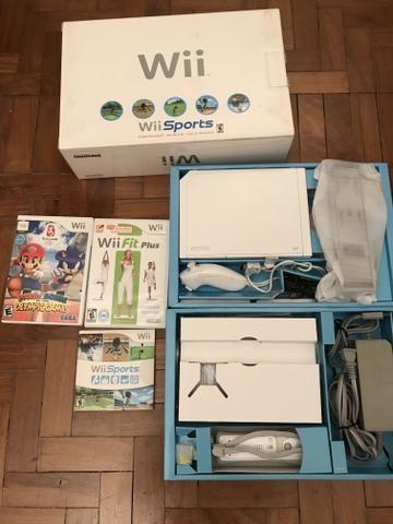 Nintendo Wii Caixa Completo C/ Wii Sports + Plataforma
