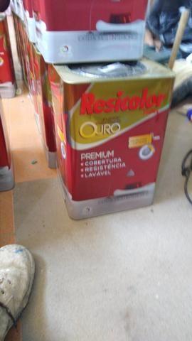 4 balde de 18 litros semibrilho cor palha