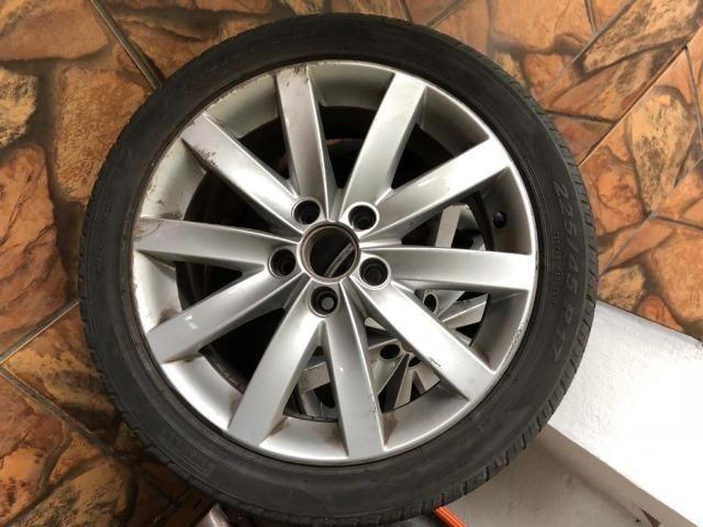 Jogo de rodas 5x112 - ARO 17 do Jetta 2012 - com detalhe