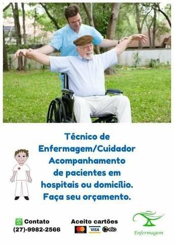 Técnico de enfermagem, cuidador