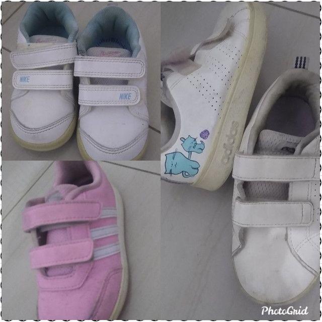 Tênis Infantil Adidas e Nike