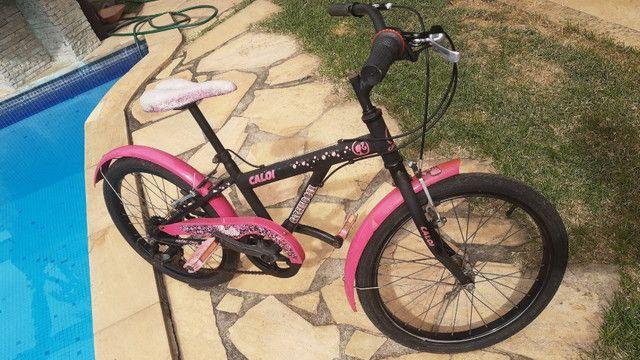 Bicicleta Caloi Aro 20 Barbie 7 marchas - Foto 5