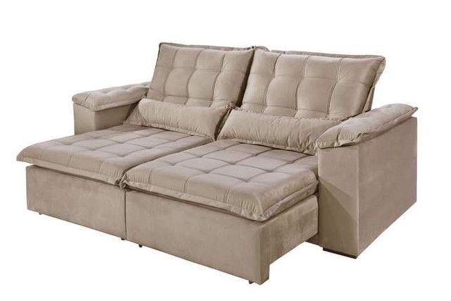 Sofa retratil e reclinavel tres marias 2,50m SUP728 - Foto 2