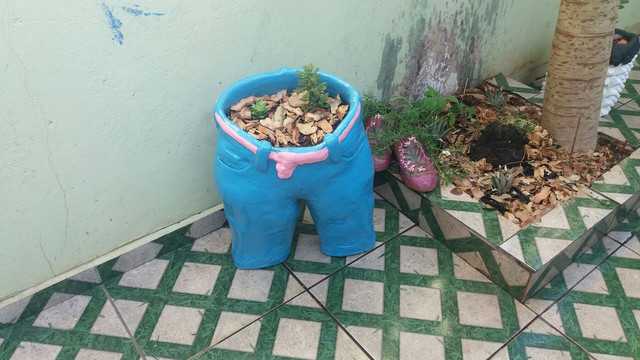 Fruteiras e vasos de plantas artesanal - Foto 4