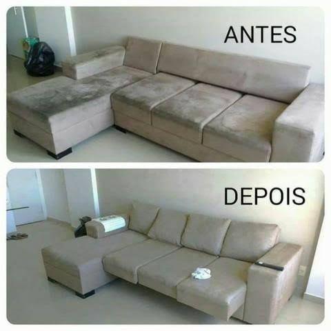 Higienização de sofá coxão a seco na residência - Foto 3