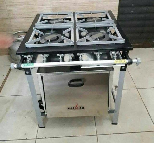 OPORTUNIDADE ÚNICA !! Fogão industrial 4 bocas com forno - Foto 2