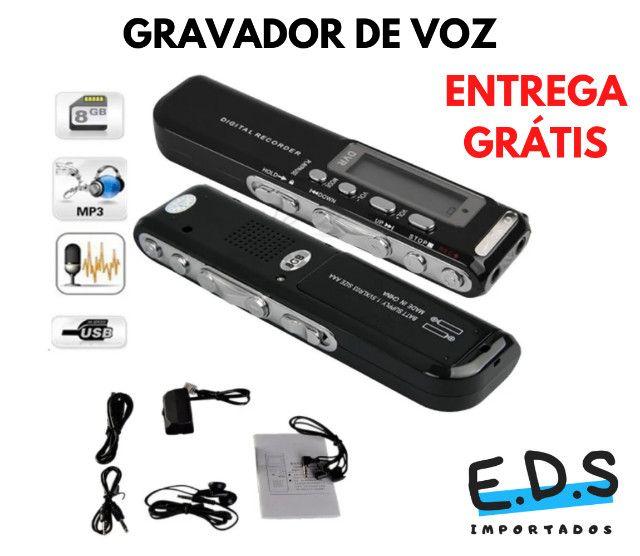 Gravador de Voz Espião e Digital Com Fone de Ouvido e 8Gb de Memória - Foto 2