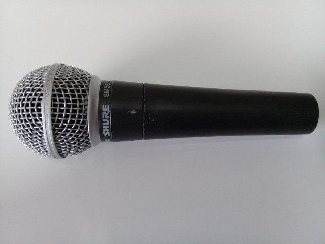 Microfone Shure SM 58 Original na Caixa - Foto 3