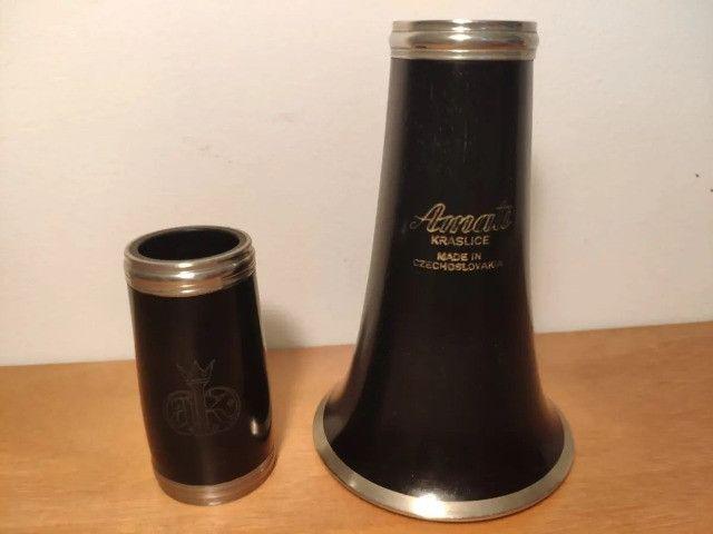 Clarinete Amati ACL311 Profisional - Sib 17 chaves Granadilla, Boquilha Vandoren 5RV - Foto 4