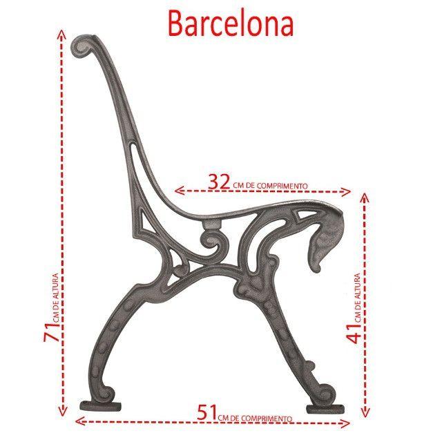 Pés de banco em ferro fundido modelo tamandua