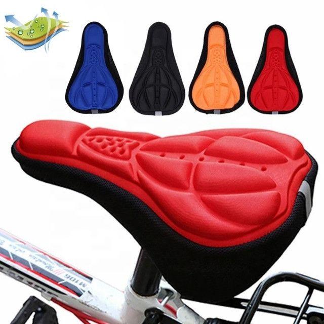 Capa de banco selim almofadada para bike - Foto 6