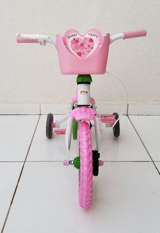 Bicicleta aro 12 Nova prá menina a partir de 2 anos. - Foto 6